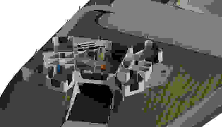 Sección Horizontal de Planta Baja Oficinas de estilo minimalista de Bioarke Construcciones C.A. Minimalista Aglomerado