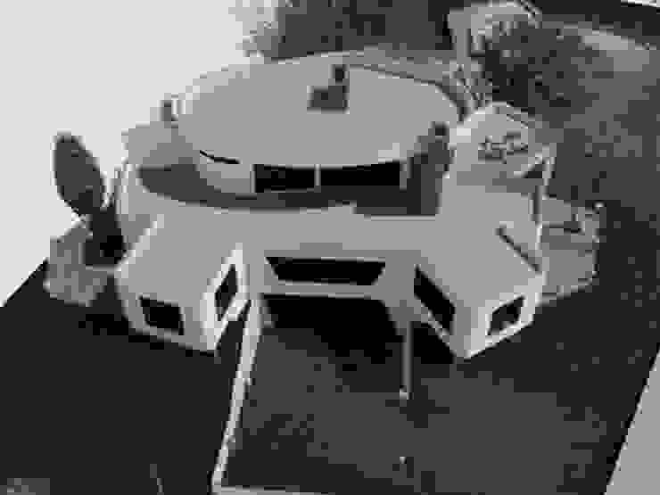 Perspectiva Militar de la fachada frontal de la vivienda. Casas de estilo minimalista de Bioarke Construcciones C.A. Minimalista Aglomerado