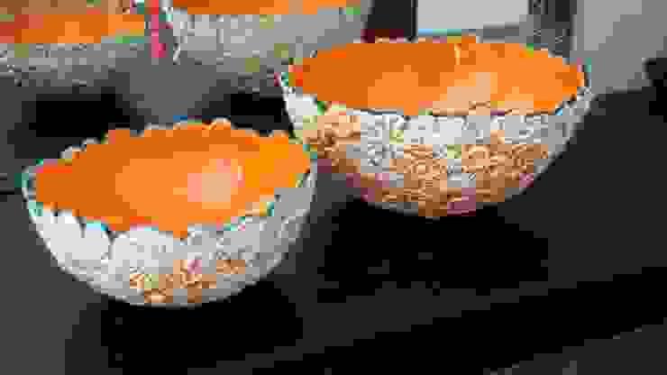 """Exposition """"Orange fusion"""" par Anne Vachard - Céramiste Éclectique Céramique"""