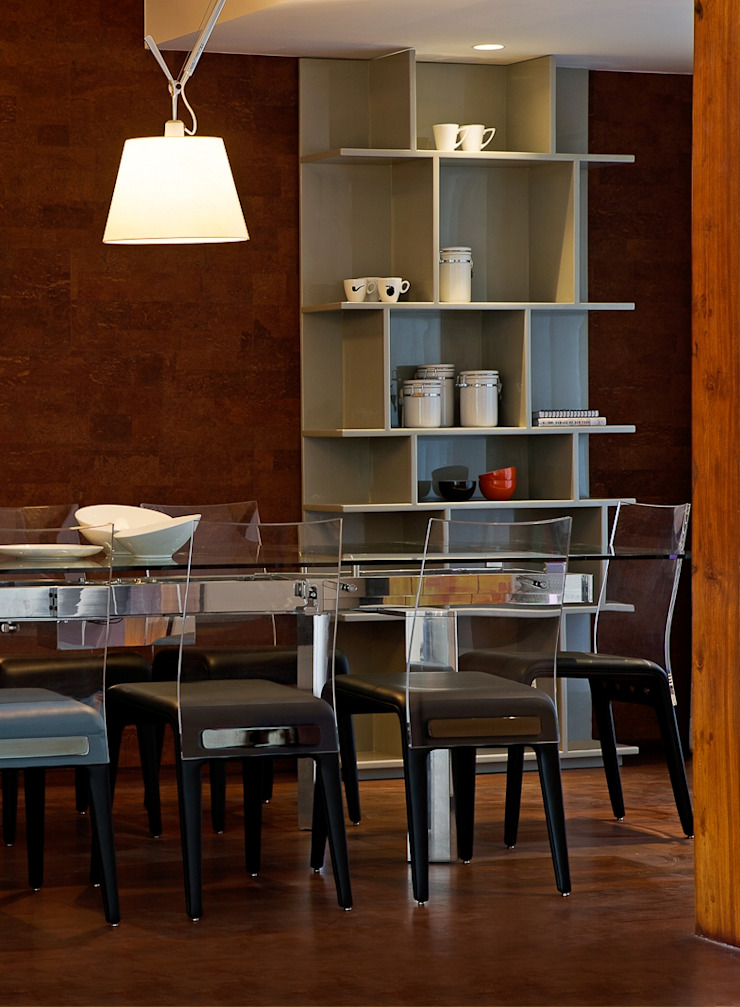 Comedores de estilo moderno de Nitido Interior design Moderno Vidrio