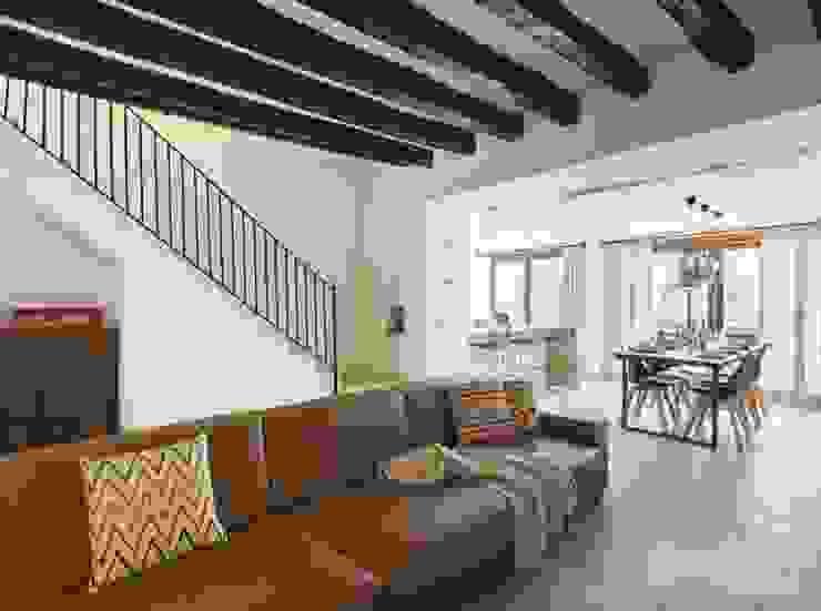 Diseño vintage para una casa de pueblo en Mallorca Salones de estilo moderno de Bornelo Interior Design Moderno