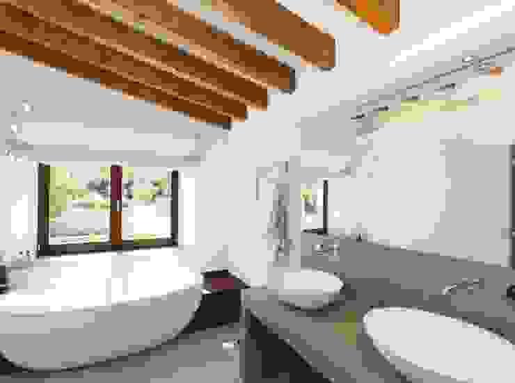 Banheiros modernos por Bornelo Interior Design Moderno
