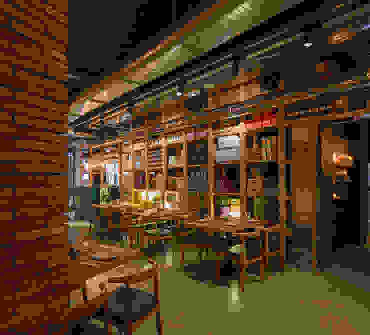 Persevera Producciones Ruang Makan Gaya Industrial Kayu Wood effect