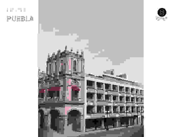 Fachada Hotel Puebla Hoteles de estilo moderno de Bloque Arquitectónico Moderno