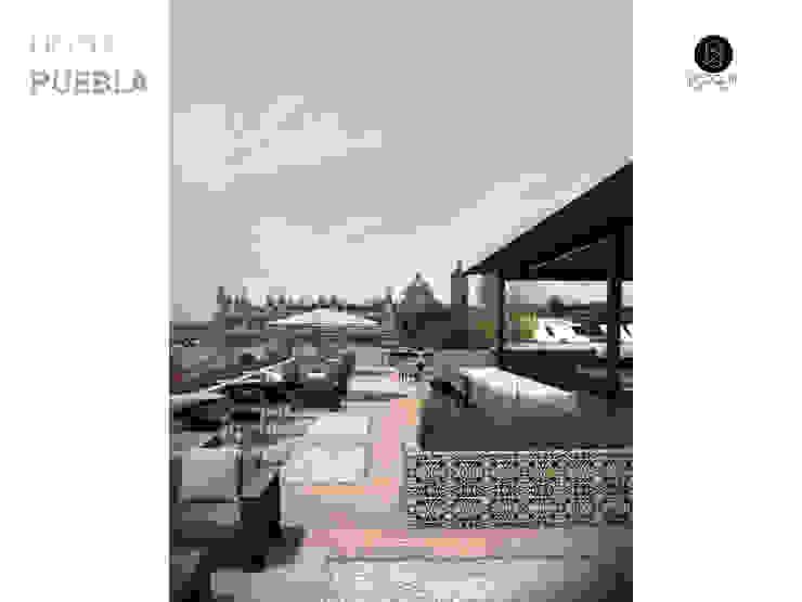 Terraza Bar Hoteles de estilo moderno de Bloque Arquitectónico Moderno