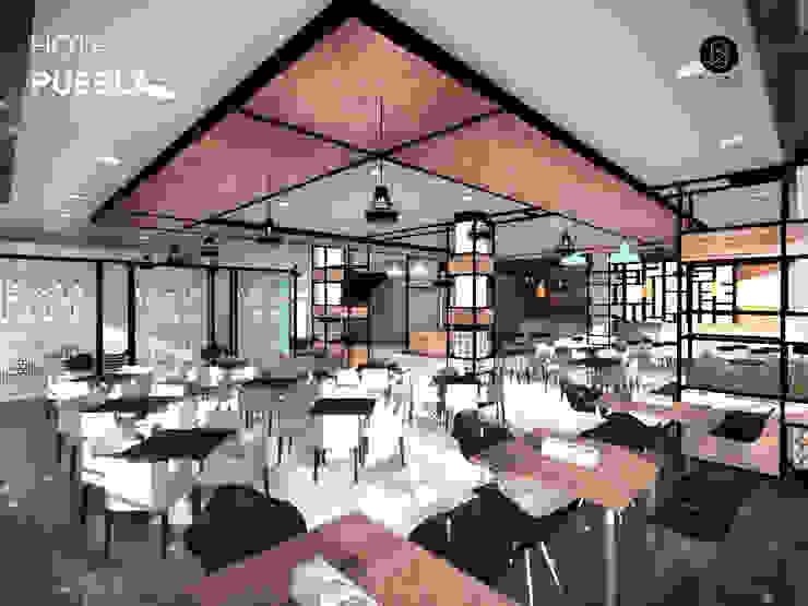 Restaurante Hoteles de estilo moderno de Bloque Arquitectónico Moderno