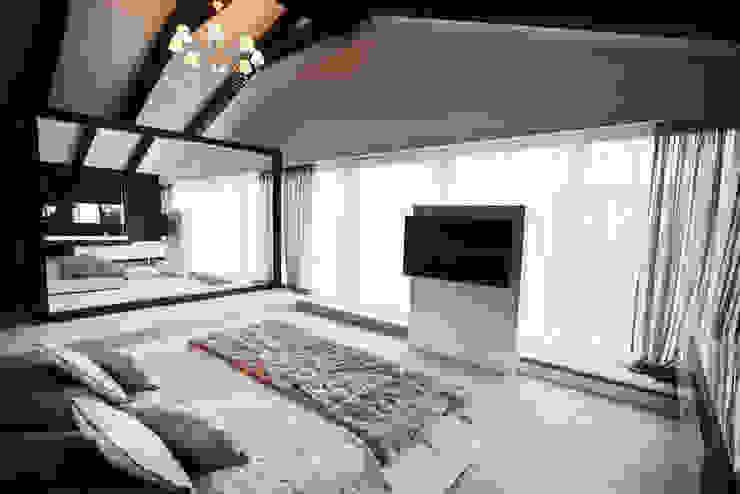 Sypialnia Nowoczesna sypialnia od Projektowanie i aranżacja wnętrz Rogalska Design Nowoczesny