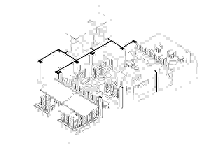 AXONOMETRÍA GENERAL de ENSAMBLE de Arquitectura Integral Industrial