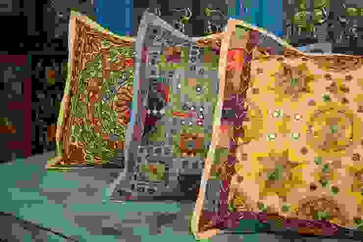 Textura es la clave¡ de SARRIA HOME Asiático Algodón Rojo
