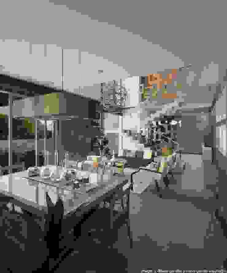 Comedor Comedores modernos de Diez y Nueve Grados Arquitectos Moderno