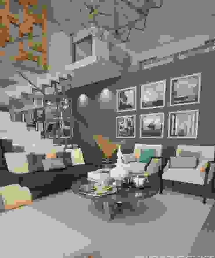 Sala Salones modernos de Diez y Nueve Grados Arquitectos Moderno