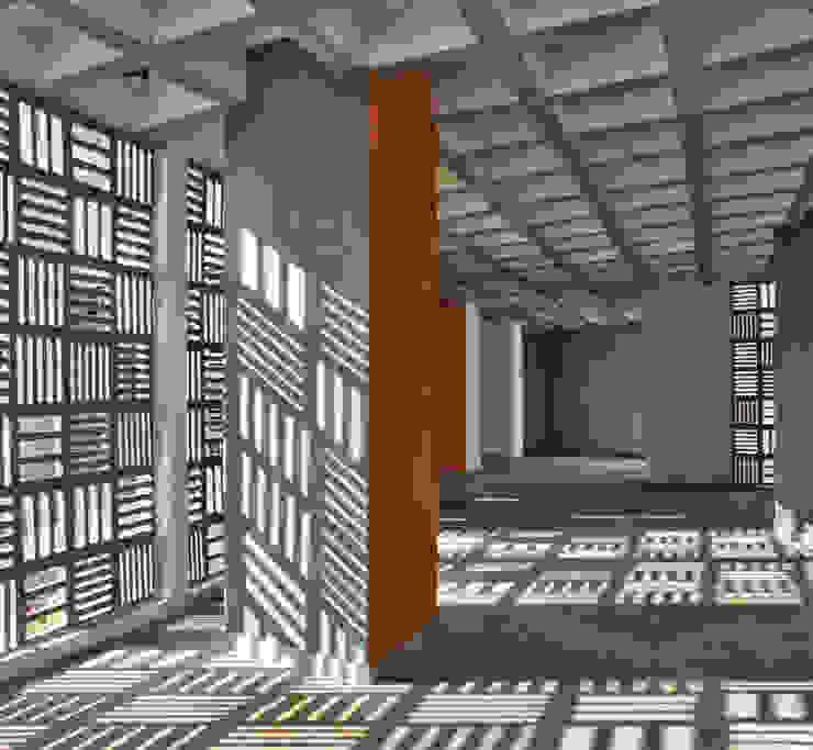 School of Sciences Modern corridor, hallway & stairs by DCOOP ARCHITECTS Modern