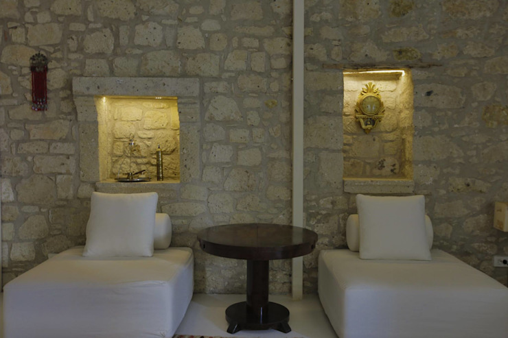 REISDERE EVİ / RESTORASYON PROJESİ Akdeniz Duvar & Zemin İBRAHİM TOPAL YAPI & MİMARLIK Akdeniz Taş