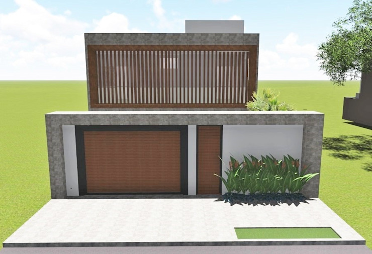 Borges Arquitetura & Paisagismo Casas de estilo moderno