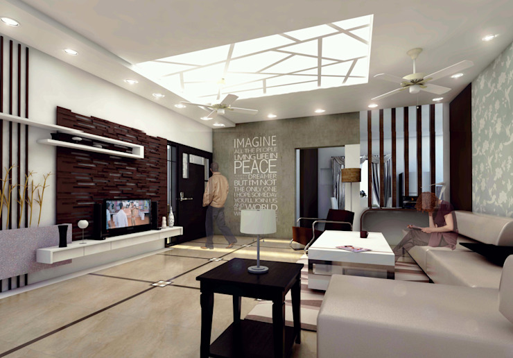 Living Room Modern living room by Izza Architects & Interior designers Modern Marble