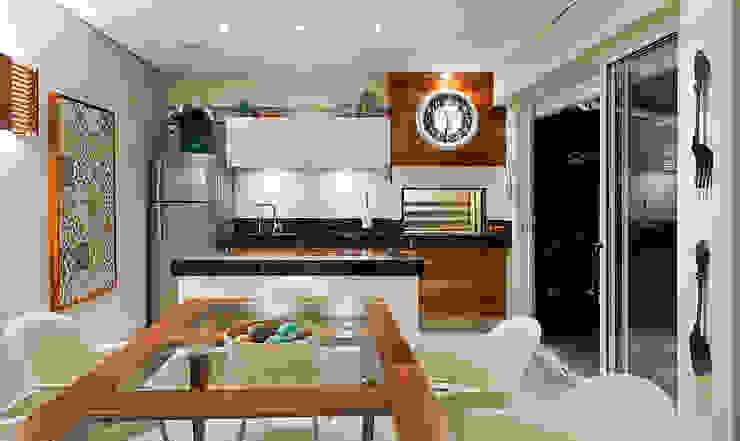 Residência Vista Alegre -Curitiba-PR Cozinhas modernas por Karin Brenner Arquitetura e Engenharia Moderno