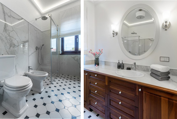 Salle de bain classique par Pszczołowscy projektowanie wnętrz Classique