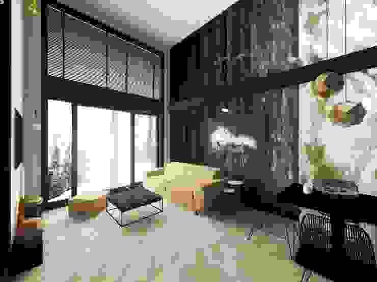 Livings de estilo  por Hanna Szczypińska - Architektura Wnętrz , Industrial