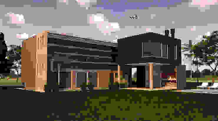 Vivienda L+A Casas modernas: Ideas, imágenes y decoración de Indinaco srl Construcciones y servicios Moderno