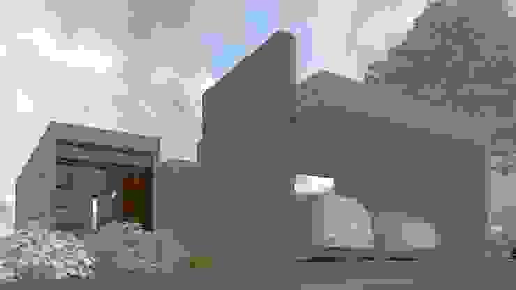 Fachada principal:  de estilo  por Diez y Nueve Grados Arquitectos,
