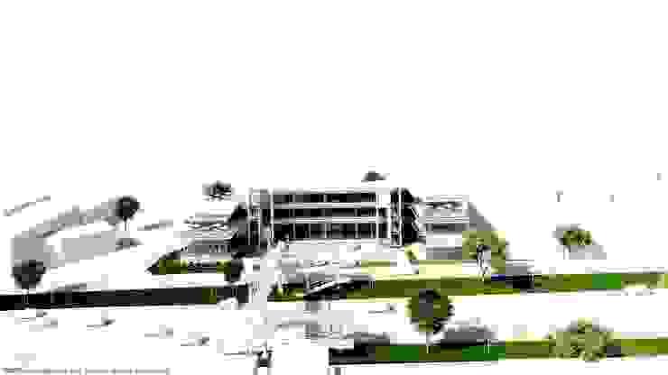 Perspectiva frontal de Diez y Nueve Grados Arquitectos