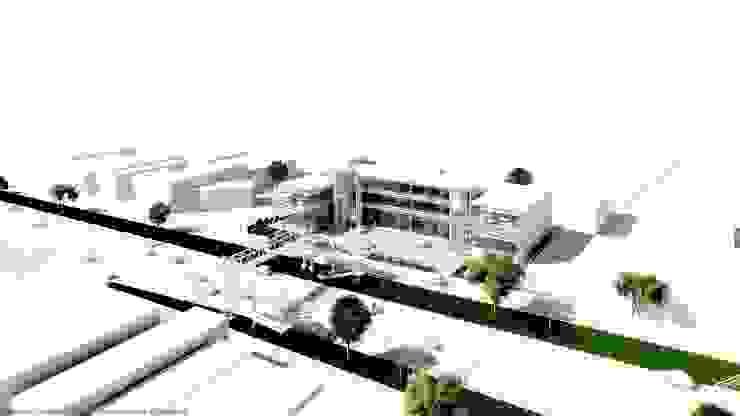 Perspectiva derecha de Diez y Nueve Grados Arquitectos