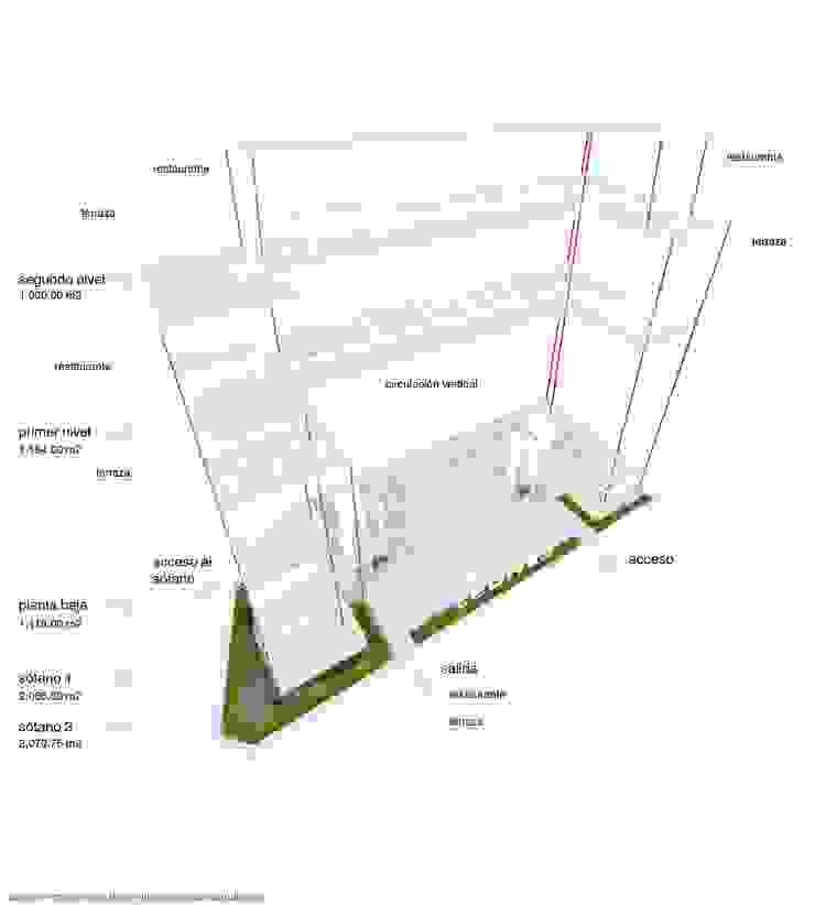 Plaza por pisos de Diez y Nueve Grados Arquitectos