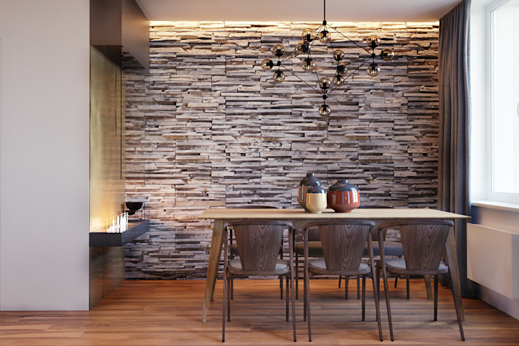 Modern Dining Room by homify Modern Stone