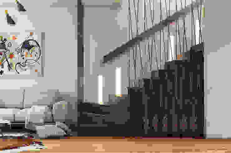 homify Pasillos, vestíbulos y escaleras de estilo moderno Negro