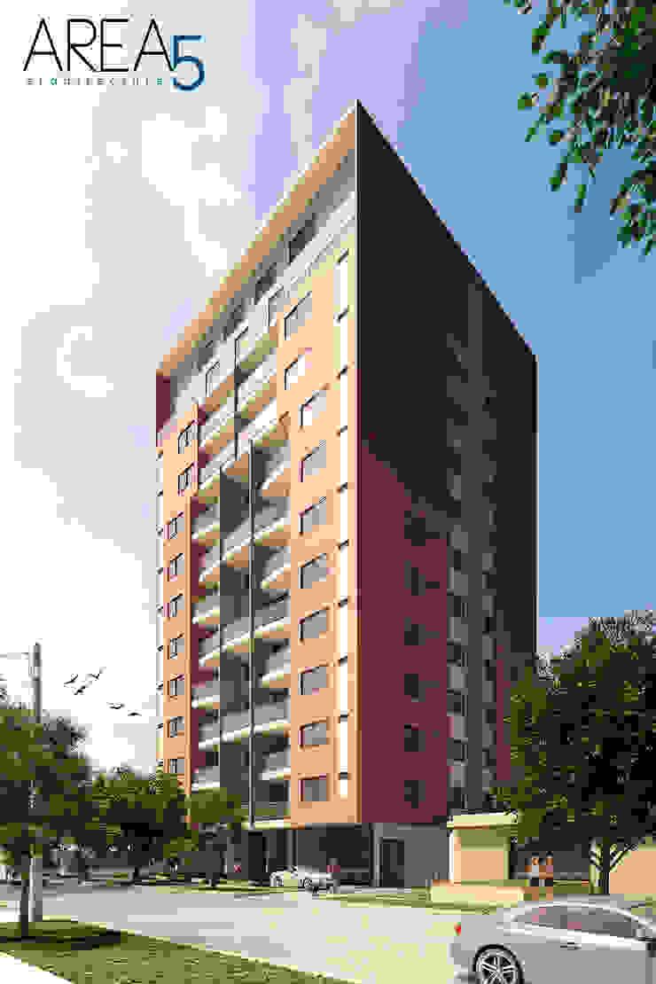 Evora85 - Fachada Casas modernas de Area5 arquitectura SAS Moderno Cerámico