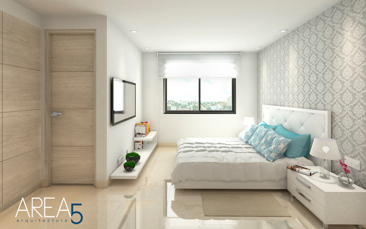 Bedroom by Area5 arquitectura SAS, Modern