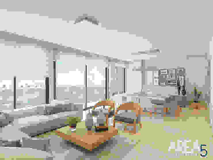 Sala-Comedor Salas modernas de Area5 arquitectura SAS Moderno