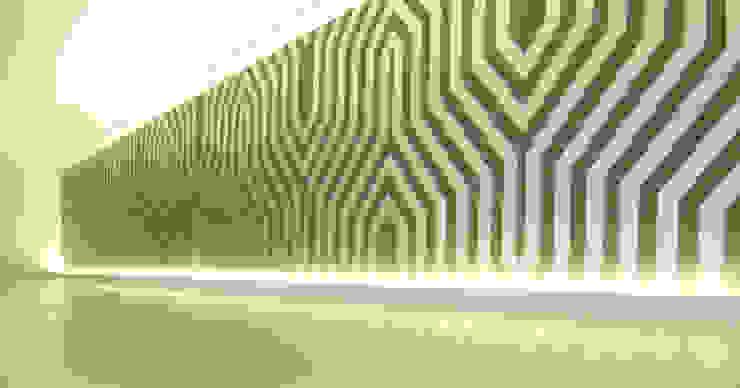 Interior Armário forrado a papel de parede Salas multimédia modernas por Poliune Moderno