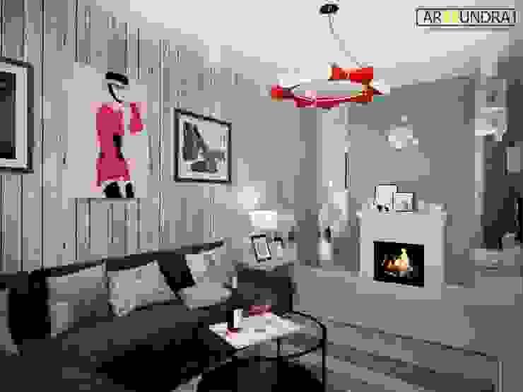 Living room by дизайн-бюро ARTTUNDRA, Industrial Wood Wood effect