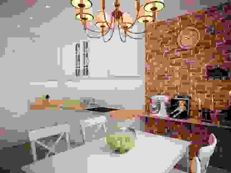 Minimalistische Küchen von дизайн-бюро ARTTUNDRA Minimalistisch Ziegel