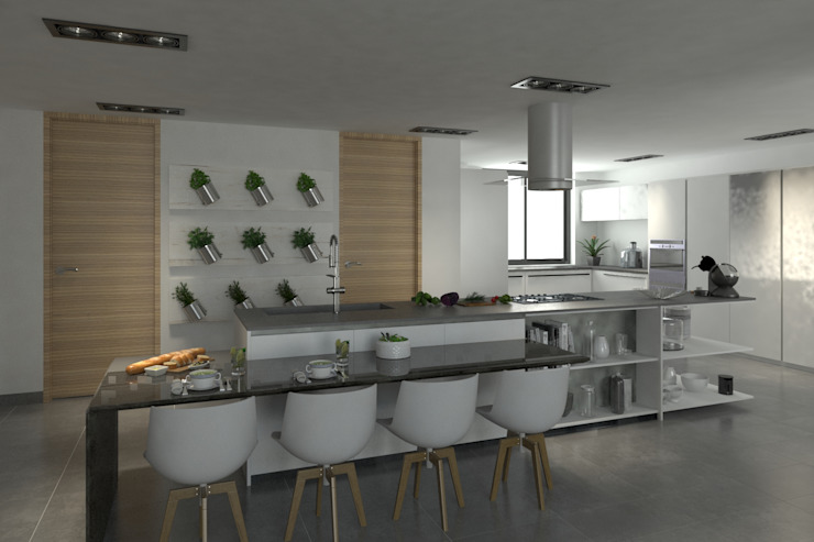 Modern kitchen by Area5 arquitectura SAS Modern