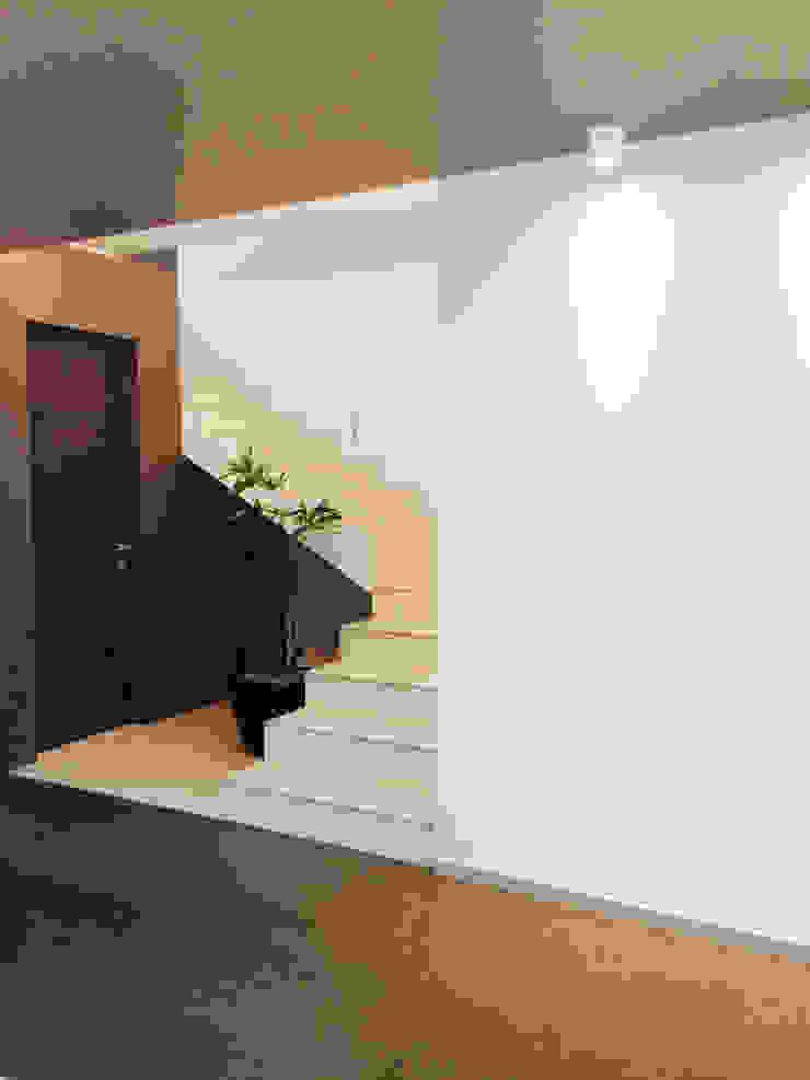 Casa Invernadero Pasillos, vestíbulos y escaleras modernos de BCA Arch and Interiors Moderno