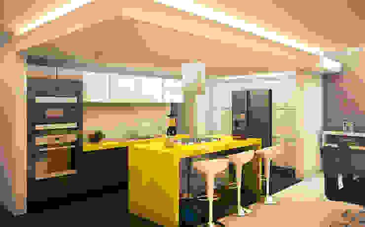 Casa Real del Bosque Cocinas modernas de BCA Taller de Diseño Moderno