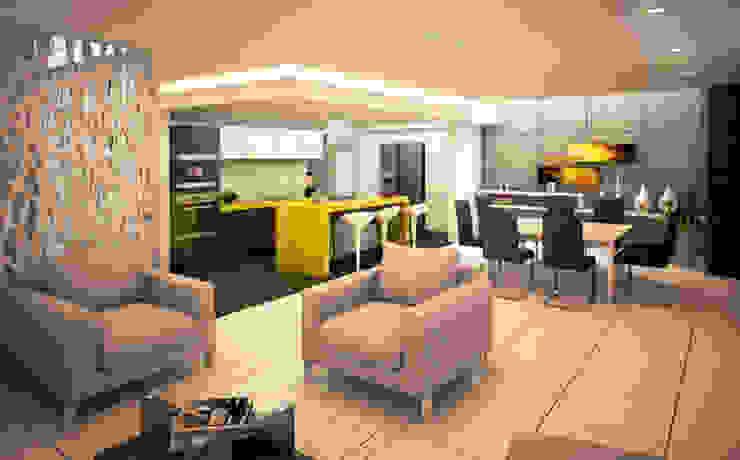 Casa Real del Bosque Salones modernos de BCA Taller de Diseño Moderno
