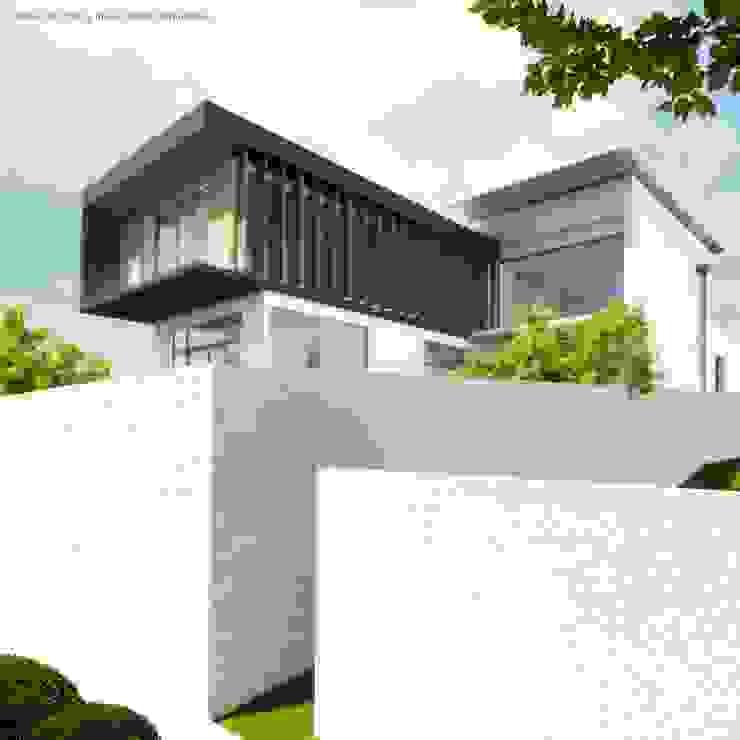 Perspectiva posterior de Diez y Nueve Grados Arquitectos