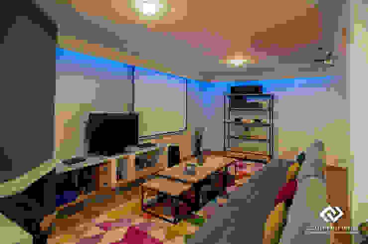 Modern media room by C2INTERIORISTAS Modern