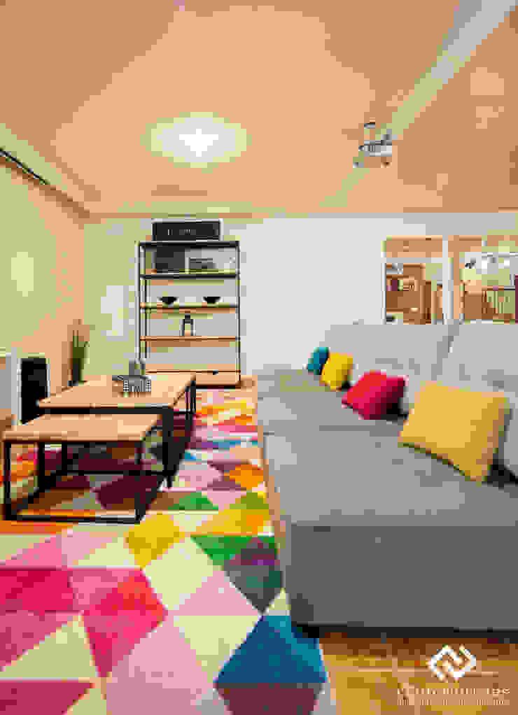 Modern style media rooms by C2INTERIORISTAS Modern