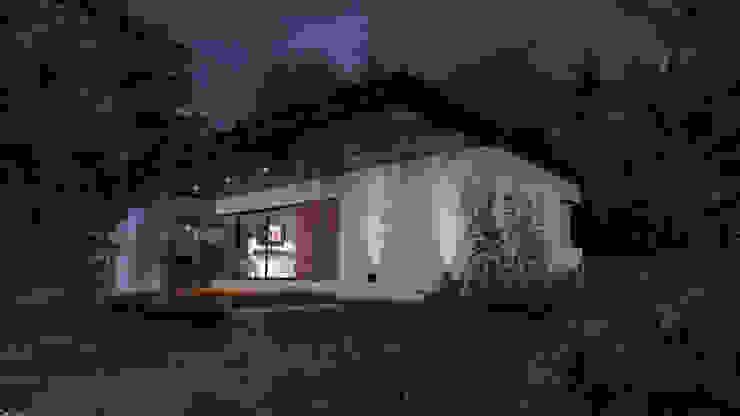 """Cabaña """"V"""" Casas modernas: Ideas, imágenes y decoración de Comma - Oficina de arquitectura Moderno Ladrillos"""