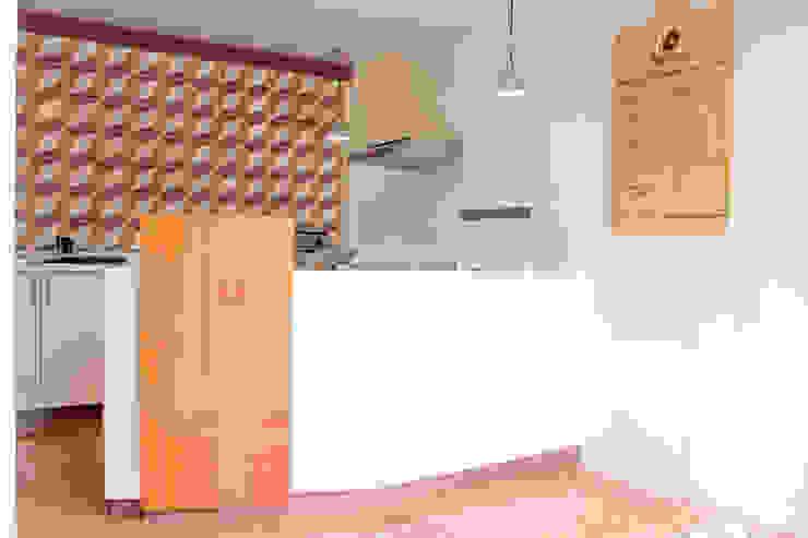 Local Comercial La Hormiga Tortas en Amapolas, Oaxaca México Cocinas modernas de Additivo al diseño Moderno Madera Acabado en madera