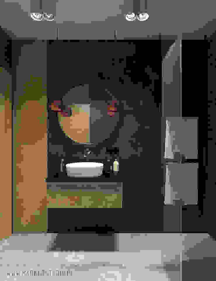 MArker Baños de estilo moderno Concreto Negro