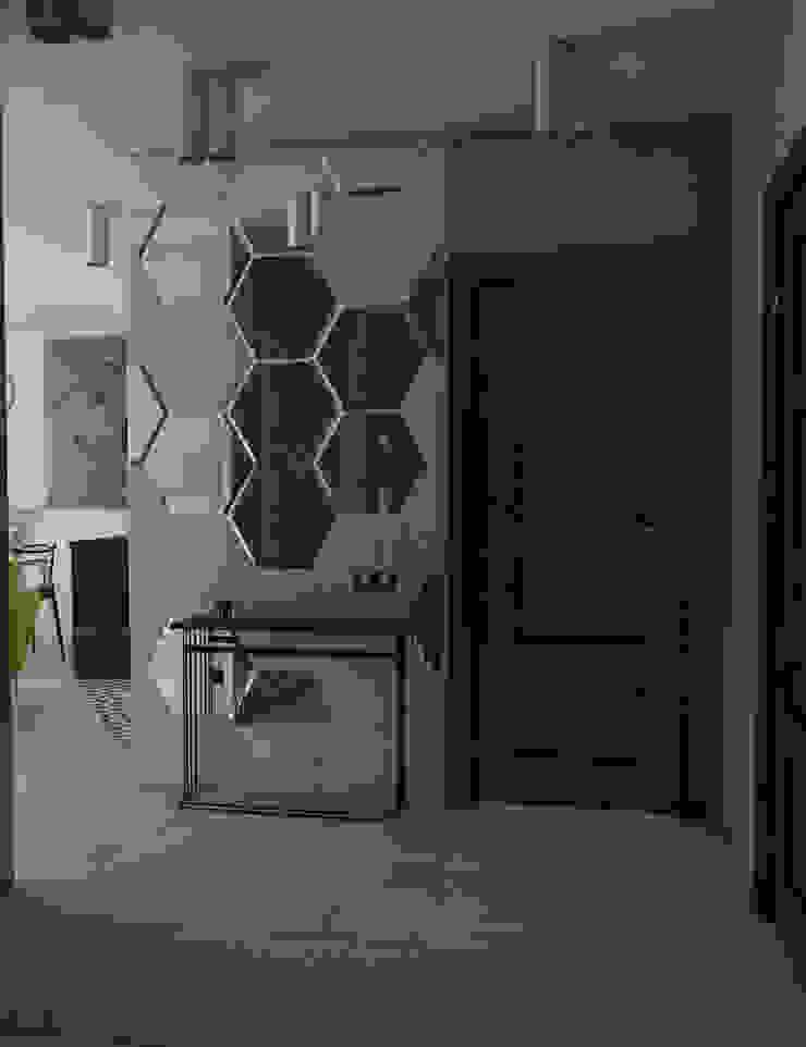 MArker Pasillos, vestíbulos y escaleras de estilo moderno Vidrio Multicolor