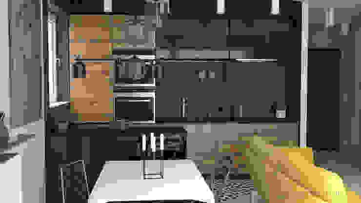 MArker Cocinas de estilo moderno Piedra Negro