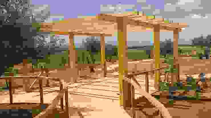 Studio Angius - Pisano Mediterranean style garden Wood Wood effect