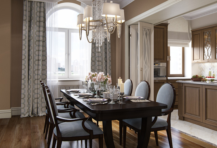 Eclectic style dining room by MARION STUDIO Eclectic