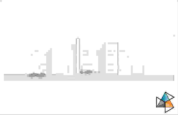 Fachada principal Casas modernas: Ideas, imágenes y decoración de Trecon Arquitectura e Ingeniería Moderno